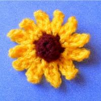 crochet flower rudbeckia