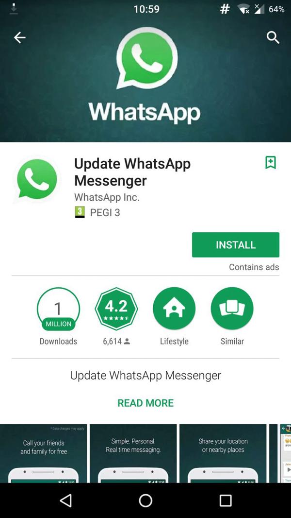 Sahte WhatsApp Uygulaması