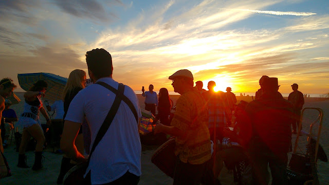 Another Year at the Venice Beach Drum Circle in Photos & Videos (2016-'17) by Omar Cherif, One Lucky Soul