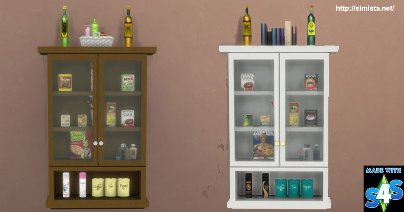 Glass Wall Cabinet Simista A Little Sims 4 Blog