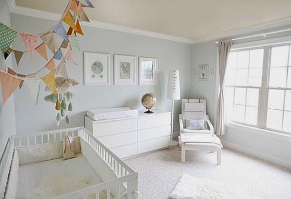 Cuartos de beb s en gris y blanco dormitorios colores y for Habitacion bebe gris