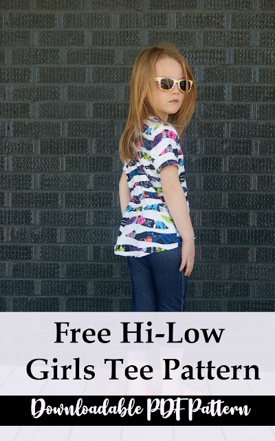 Free Hattie Hi Low Tee PDF Sewing Pattern