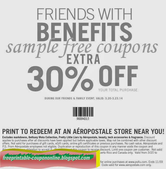 Aeropostale coupon code online
