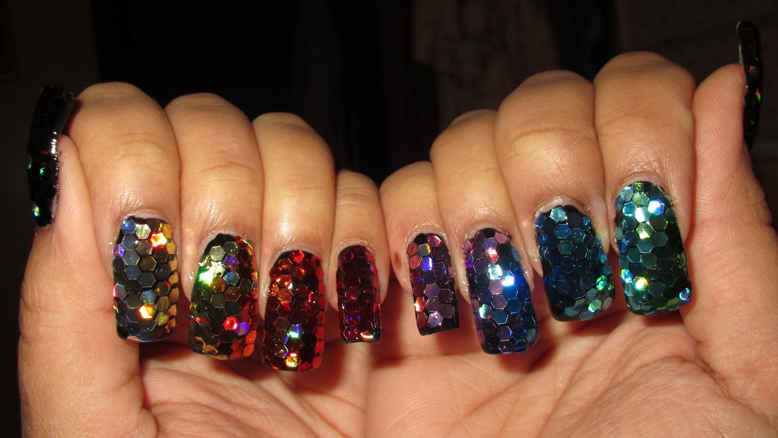 My Simple Little Pleasures: NOTD: New Year's Super Blingy Ombre