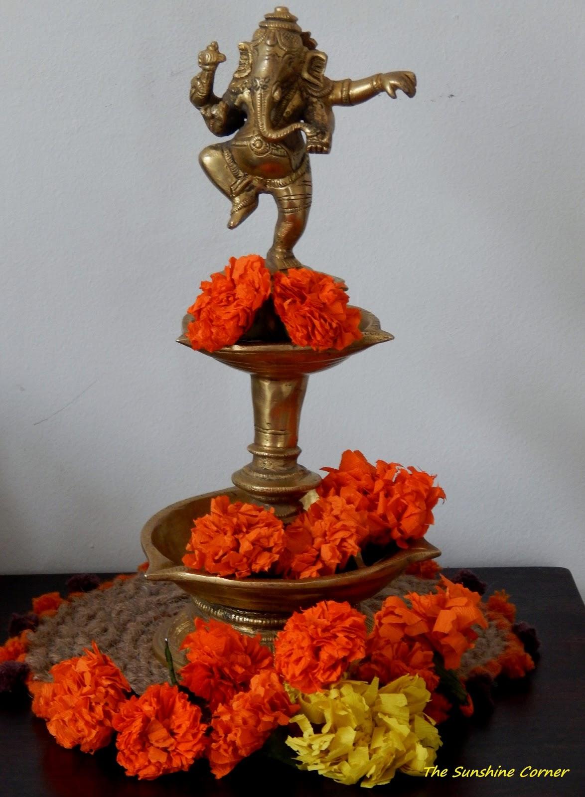 The Sunshine Corner Diwali Decor Crepe Paper Marigolds