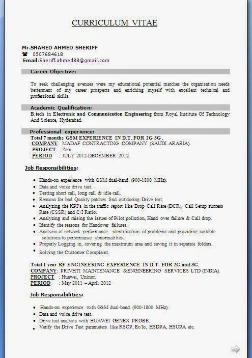 electronics technician cv sample