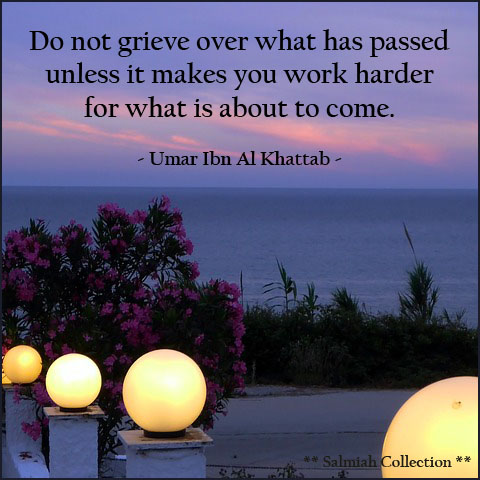 Do not grieve over what has passed