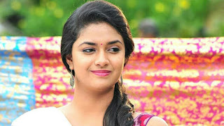 Keerthy Suresh with cute Expression