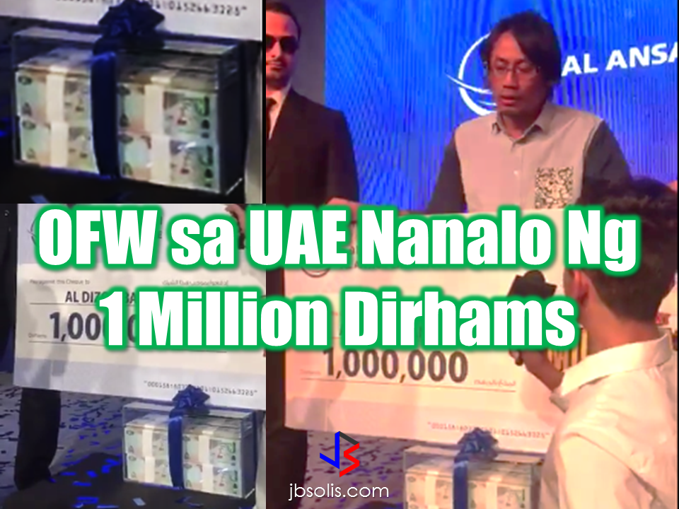 "An Overseas Filipino Worker in UAE has received the greatest winning of his life by winning AED 1 Million in a raffle draw sponsored by an exchange company in the UAE. Al Dizon Bansil, an engineer working in the UAE for eleven years away from his family in the Philippines. Now, he has no reason not to go home and be with his beloved wife and daughters.  He is a winner of 1 Million Dirhams cash in a raffle draw sponsored by Al Ansari Exchange held in Sharjah, UAE.  ""Advertisements""   There were a total nine names placed inside the ball and Al Dizon Bansil's name was the third name mentioned. Nine names of  lucky people one of whom life is about to change. Every body's heart is pounding really fast. Even when they called the names of everyone in front. Al Ansari Exchange gave 10,000 Dirhams each for the other 8 contestants. The final raffle has come at last with only two people aspiring to win the grand prize. this time its only between a Pakistani national and the OFW. They drawn the name of the next winner and it was the Pakistani's  The Filipino knelt down as the host mention the grand winner and it was him!   The OFW was the luckiest to win the grand prize of 1 Million Dirhams. During the interview the OFW said : ""To be honest with you, I'm just thinking of going home. I spent 11 years without my family, my daughters, my wife, so i just want to spend almost everyday of my life for them. They're the big winner. I thank God for giving me this opportunity and Al Ansari (Exchange) as an instrument to make my dream come true.""   ""Sponsored Links"" Read More:        China's plans to hire Filipino household workers to their five major cities including Beijing and Shanghai, was reported at a local newspaper Philippine Star. it could be a big break for the household workers who are trying their luck in finding greener pastures by working overseas  China is offering up to P100,000  a month, or about HK$15,000. The existing minimum allowable wage for a foreign domestic helper in Hong Kong is  around HK$4,310 per month.  Dominador Say, undersecretary of the Department of Labor and Employment (DOLE), said that talks are underway with Chinese embassy officials on this possibility. China's five major cities, including Beijing, Shanghai and Xiamen will soon be the haven for Filipino domestic workers who are seeking higher income.  DOLE is expected to have further negotiations on the launch date with a delegation from China in September.   according to Usec Say, Chinese employers favor Filipino domestic workers for their English proficiency, which allows them to teach their employers' children.    Chinese embassy officials also mentioned that improving ties with the leadership of President Rodrigo Duterte has paved the way for the new policy to materialize.  There is presently a strict work visa system for foreign workers who want to enter mainland China. But according Usec. Say, China is serious about the proposal.   Philippine Labor Secretary Silvestre Bello said an estimated 200,000 Filipino domestic helpers are  presently working illegally in China. With a great demand for skilled domestic workers, Filipino OFWs would have an option to apply using legal processes on their desired higher salary for their sector. Source: ejinsight.com, PhilStar Read More:  The effectivity of the Nationwide Smoking Ban or  E.O. 26 (Providing for the Establishment of Smoke-free Environment in Public and Enclosed Places) started today, July 23, but only a few seems to be aware of it.  President Rodrigo Duterte signed the Executive Order 26 with the citizens health in mind. Presidential Spokesperson Ernesto Abella said the executive order is a milestone where the government prioritize public health protection.    The smoking ban includes smoking in places such as  schools, universities and colleges, playgrounds, restaurants and food preparation areas, basketball courts, stairwells, health centers, clinics, public and private hospitals, hotels, malls, elevators, taxis, buses, public utility jeepneys, ships, tricycles, trains, airplanes, and  gas stations which are prone to combustion. The Department of Health  urges all the establishments to post ""no smoking"" signs in compliance with the new executive order. They also appeal to the public to report any violation against the nationwide ban on smoking in public places.   Read More:          ©2017 THOUGHTSKOTO www.jbsolis.com SEARCH JBSOLIS, TYPE KEYWORDS and TITLE OF ARTICLE at the box below Smoking is only allowed in designated smoking areas to be provided by the owner of the establishment. Smoking in private vehicles parked in public areas is also prohibited. What Do You Need To know About The Nationwide Smoking Ban Violators will be fined P500 to P10,000, depending on their number of offenses, while owners of establishments caught violating the EO will face a fine of P5,000 or imprisonment of not more than 30 days. The Department of Health  urges all the establishments to post ""no smoking"" signs in compliance with the new executive order. They also appeal to the public to report any violation against the nationwide ban on smoking in public places.          ©2017 THOUGHTSKOTO Dominador Say, undersecretary of the Department of Labor and Employment (DOLE), said that talks are underway with Chinese embassy officials on this possibility. China's five major cities, including Beijing, Shanghai and Xiamen will soon be the destination for Filipino domestic workers who are seeking higher income."