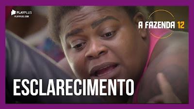 A Fazenda 12 – Jojo explica para Luiza briga com Mirella – Raissa assume ter ficado com ex de Mirella