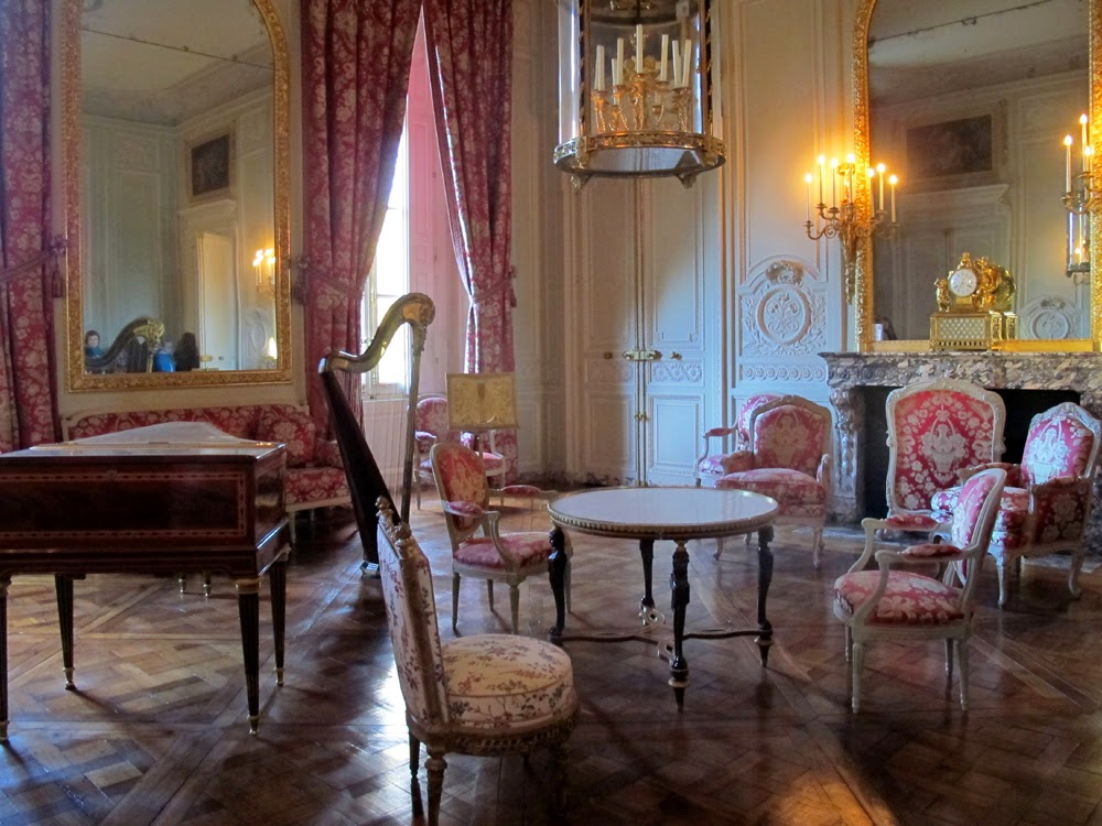 Petit Trianon drawing room, Palace of Versailles, Paris travel