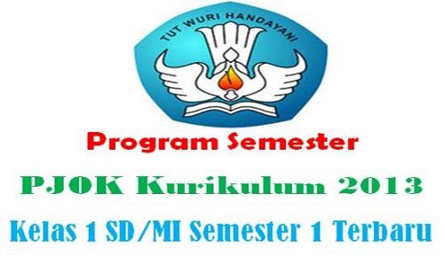 Program Semester PJOK Kurikulum 2013 Kelas 1 SD/MI Semester 1 Terbaru
