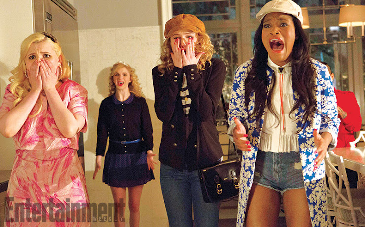 SCREAM QUEENS novas imagens Emma Roberts, Jamie Lee Curtis, Nick Jonas, Keke Palmer, Abigail Breslin e Skyler Samuels