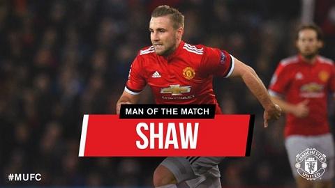 Shaw là cầu thủ xuất sắc nhất trận đấu