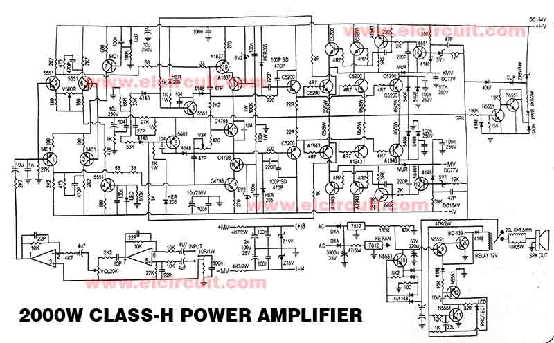 2000w power amplifier circuit diagram h4 bulb wiring audio all data electronic stereo