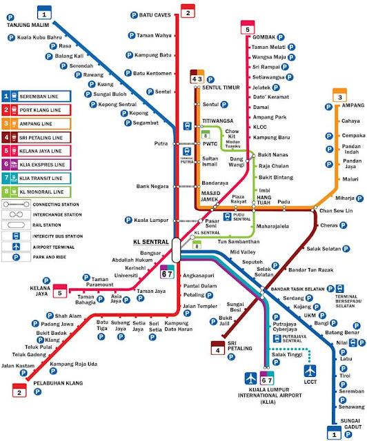 Map MRT Kuala Lumpur