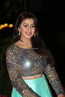 Nikki Galrani in Green Skirt  Top at Marakathamani music launch ~  Exclusive (98).JPG