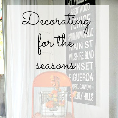Decorating for the Seasons with Vignettes