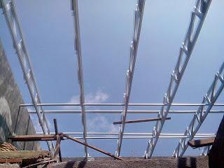 Rangka atap baja ringan minimalis/kremona
