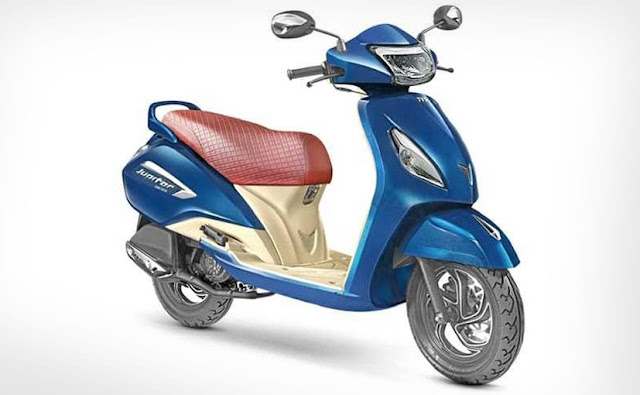 TVS Jupiter Grande Starlight Blue colour