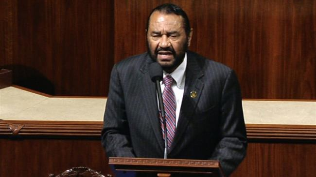 African American Congressman Al Green addresses lynching threats on House floor