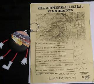 peta jalur pendakian merbabu grenden