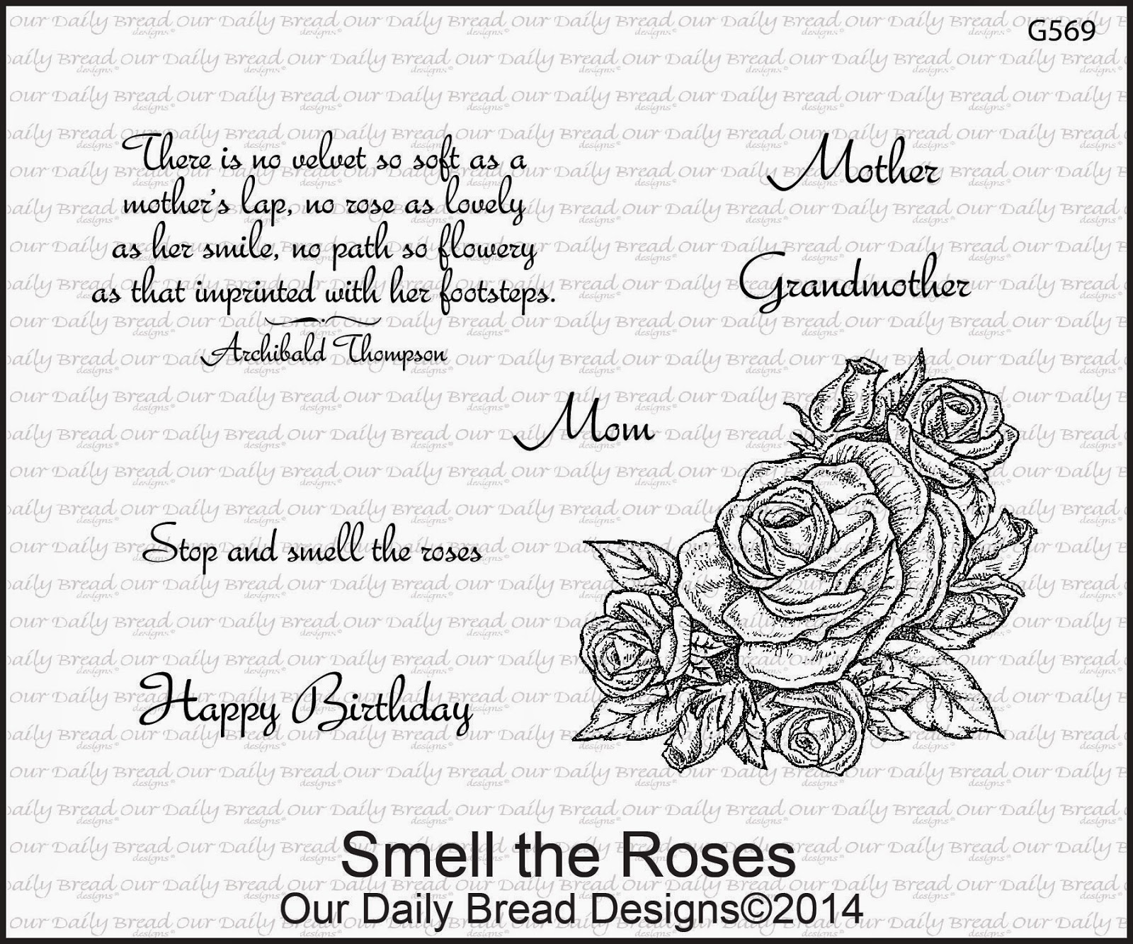 Stamps - Our Daily Bread Smell the Roses