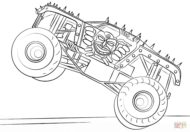 Monster Truck Coloring Pages To View Printable Version Or Color It  Online Patible With Ipad And Android Tablets