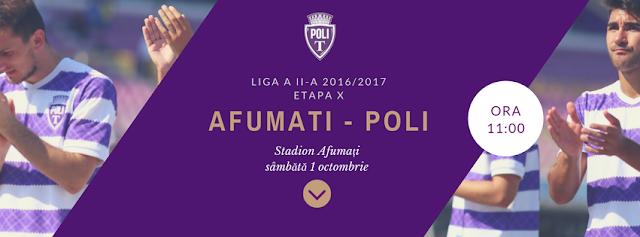 Afumati - Poli Timisoara 01 octombrie 2016, ora 11