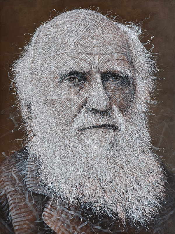 07-Charles-Darwin-Alexi-Torres-Woven-Oil-Paintings-www-designstack-co