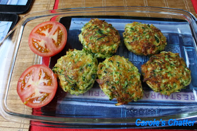 Zucchini cakes by Carole's Chatter
