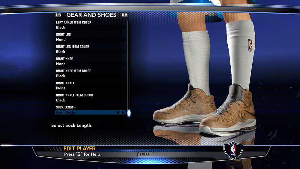 NBA 2K14 LeBron 10 Cork Shoes Mod
