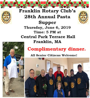 Franklin Rotary Club plans their 28th Annual Pasta Supper - June 6