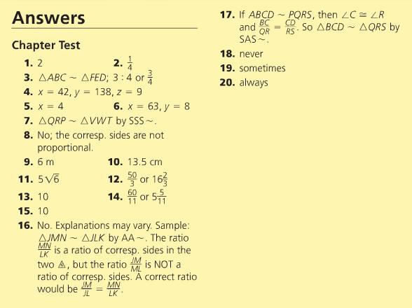 Geometry homework help answers