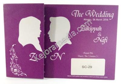 undangan pernikahan ungu silver