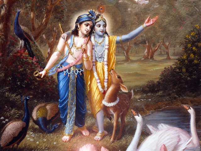 Lord Krishna & Balram  Wallpaper For Your Mobile & Desktop