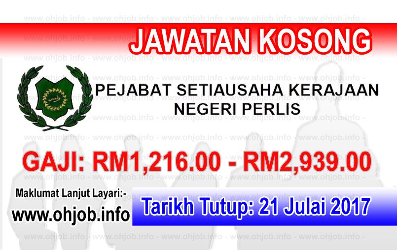 Jawatan Kerja Kosong Kerajaan Negeri Perlis logo www.ohjob.info julai 2017