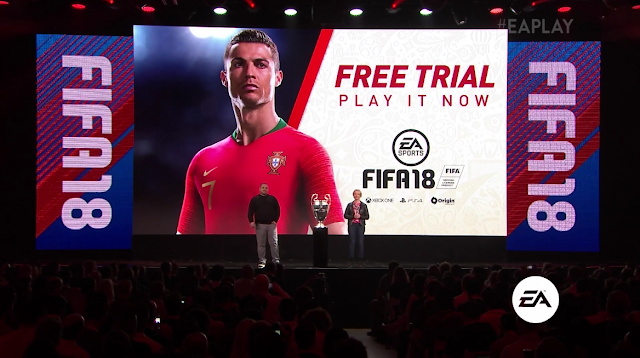 EA Play E3 2018 FIFA FIFA18 free trial Xbox One PlayStation 4 Origins