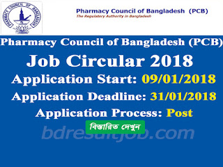 Pharmacy Council of Bangladesh (PCB) job circular 2018