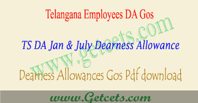 Telangana Jan 2014 DA @ 5.240% TS dearness allowance Go.no 26