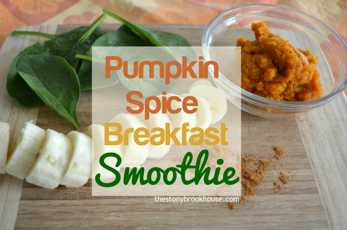 Pumpkin Spice Spinach Smoothie