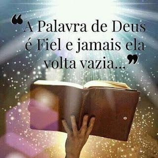 """""""Assim também a ordem que eu dou não volta sem ter feito o que eu quero; ela cumpre tudo o que eu mando"""" - Isaías 55.11 (NTLH)."""
