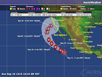 Ciclón tropical 17 en el Pacifico
