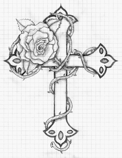 Rose And Cross By Balloonfiascodeviantart On Deviantart