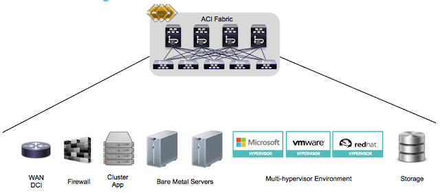Cisco ACI as the any to any network integration in the data center