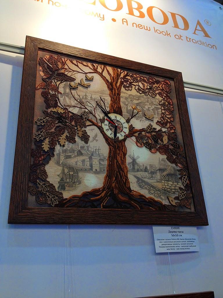 e3959707ed3f Есть у них и новые экспериментальные наборы, например, вот это дерево.  Ствол выполнен декоративными швами, листья вышиты бисером и кое-где  дополнены еще ...