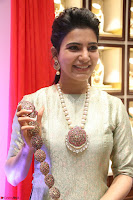 Samantha Ruth Prabhu in Cream Suit at Launch of NAC Jewelles Antique Exhibition 2.8.17 ~  Exclusive Celebrities Galleries 056.jpg