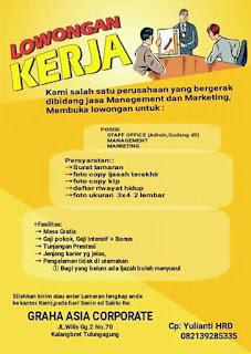 Tantangan Kerja di Graha Asia Corporate Yogyakarta Terbaru Februari 2018.