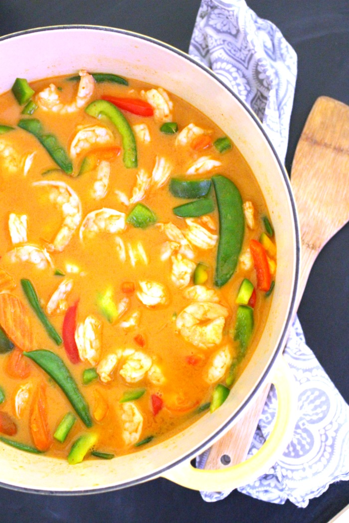 Simple Thai Red Curry with Shrimp Recipe