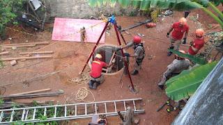 Homem fica soterrado durante trabalho em poço de 12 metros em Mamanguape, PB